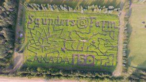 Saunders Farm Canada 150 Corn Maze